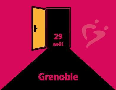 Réouverture de l'antenne de Grenoble le 29 août