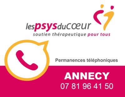 Maintien des permanences des Psys du Coeur d'Annecy par téléphone!