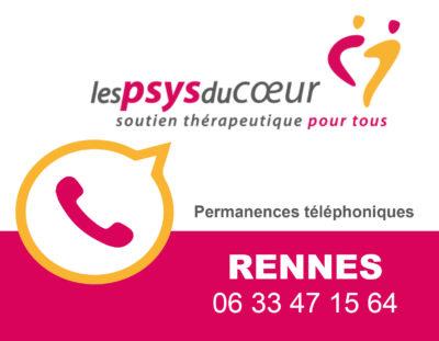 Maintien des permanences des Psys du Coeur de Rennes par téléphone!