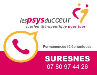 Maintien des permanences des Psys du Coeur de Suresnes par téléphone!